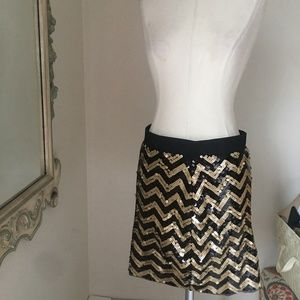 Michael Kors sequin chevron mini skirt NWT Small